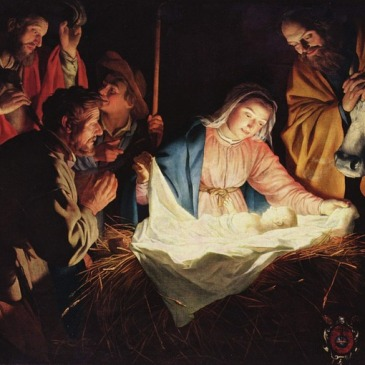 Nativity scene, symbol of the birth of Christ consciousness in us