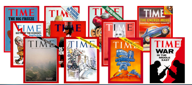collage of Time Magazine Covers